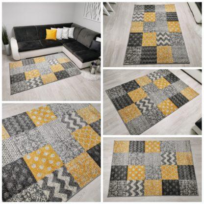 Dywan w żółte kwadraty