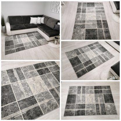 dywan w szare kwadraty