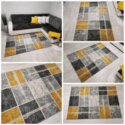 Nowy dywan w żółte kwadraty