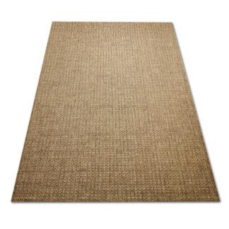 Brązowy gładki dywan sizal