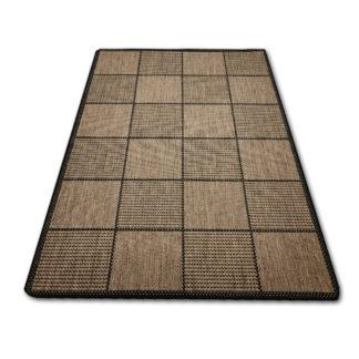Nowoczesny brązowy dywan sizal