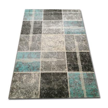 Kwadraty turkusowe dywan