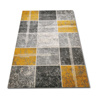 kwadraciki żółte dywan