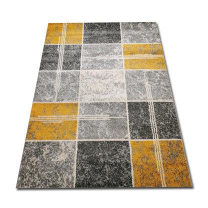 Piękny modny dywan żółty New Gold Kwadraty