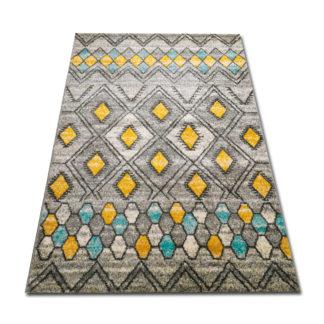 dywan żółto turkusowy