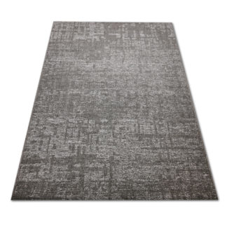 Modny płasko tkany dywan Sizal plamka szara