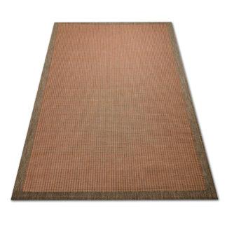 Modny dywan sznurkowy Sizal ramka pomarańczowa