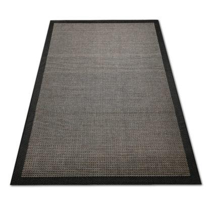 Nowoczesny dywan sznurkowy Sizal ramka szaro czarna