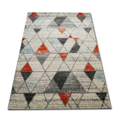 Modernistyczny dywan New Gold Trójkąciki Orange Turkus