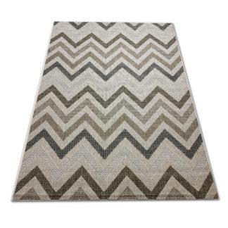 Modny płasko tkany dywan Sizal paski jasne