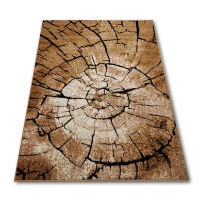 dywan pień drzewa brązowy