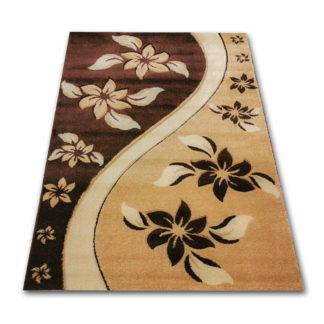 brązowy dywan wycinany