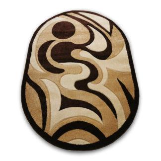 brązowy dywan owalny