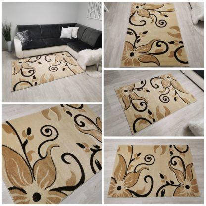 jasny dywan w kwiaty