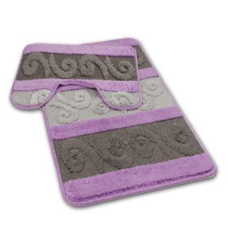 fioletowy komplet łazienkowy
