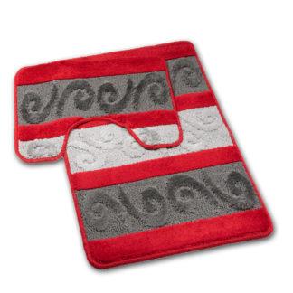 czerwoni dywan do łazienki