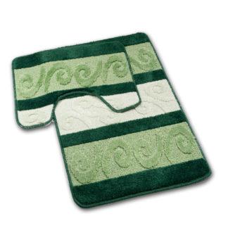 zielony dywan łazienkowy