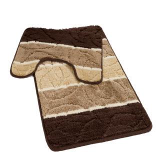 brązowy komplet łazienkowy