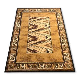 Nowoczesny dywan brązowy