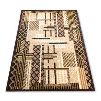 modny dywan brązowy