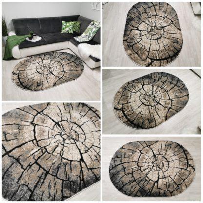 owalny dywan w pień drzewa