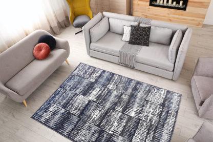 Granatowy nowoczesny dywan