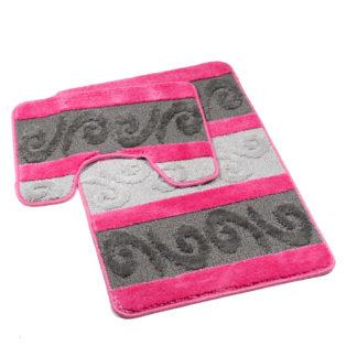 różowy dywanik łazienkowy