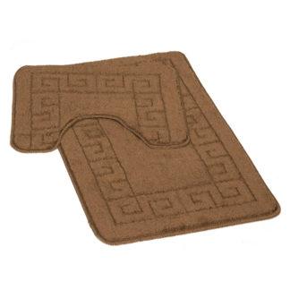 brązowy dywanik łazienkowy