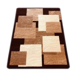 brązowy dywan do pokoju