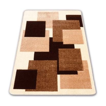 dywan w jasno brÄ…zowe kwadraty