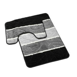 szaro czarny dywanik do łazienki