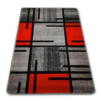 czerwony dywan z szarym