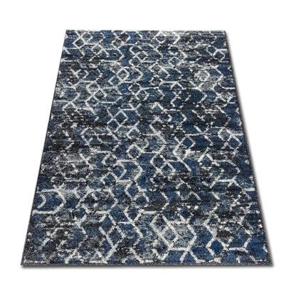 granatowy dywan geometryczny