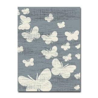dywan w szare motylki