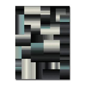 turkusowy modernistyczny dywan