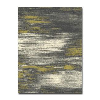 żółty dywan przecierany