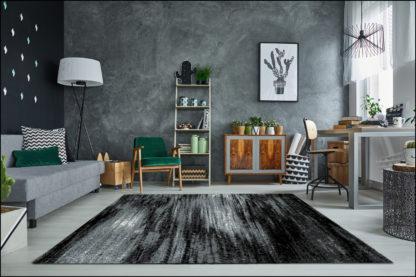 nowoczesny szary dywan przecierany
