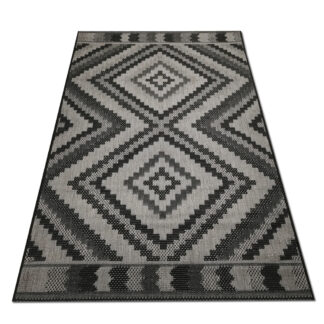 szaro czarny dywan sizal