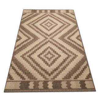 jasny dywan geometryczny sizal