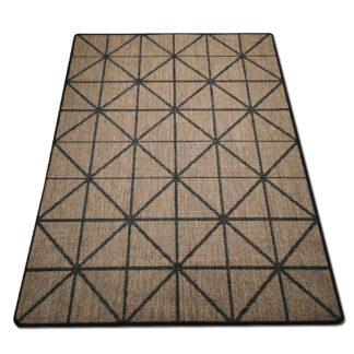 geometryczny dywan sizalowy