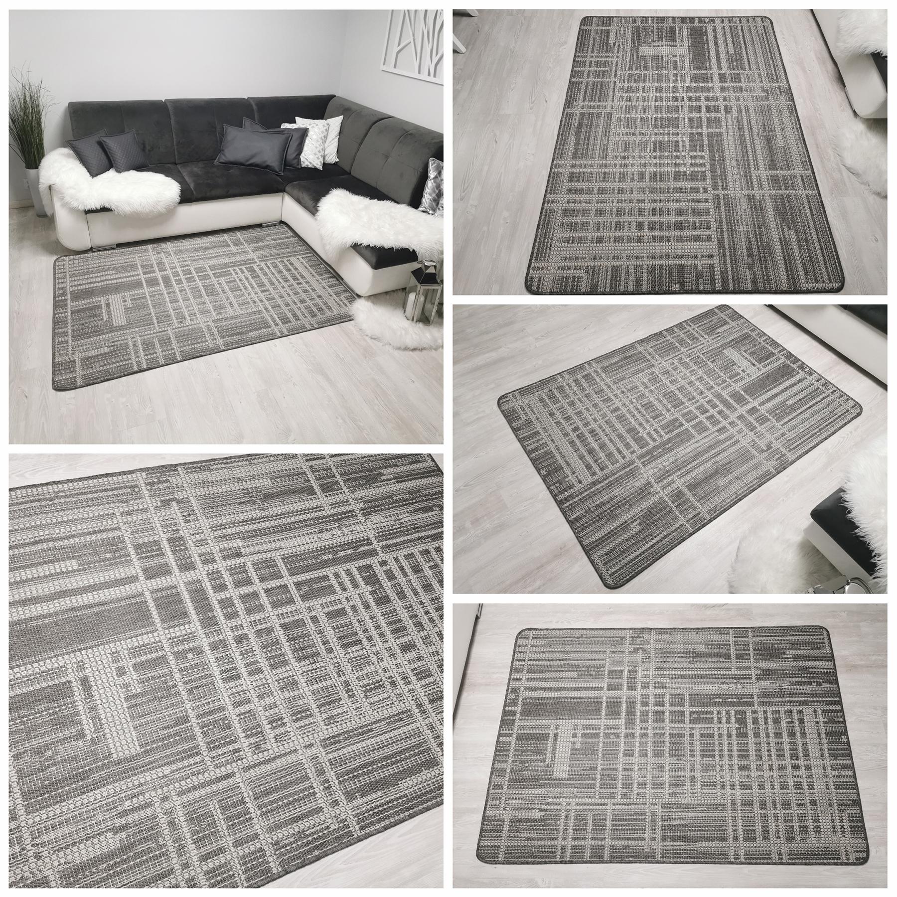jasny dywan przecierany sizal