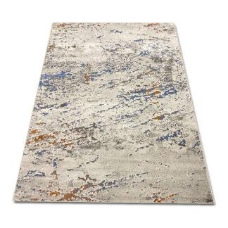 Miękki dywan szaro kolorowy przecierany