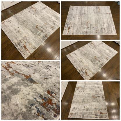 Nowoczesny dywan przecierany