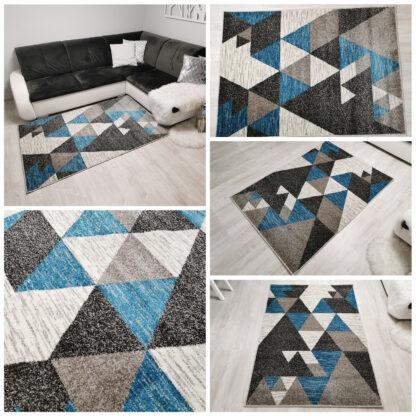 turkusowy dywan trójkąty