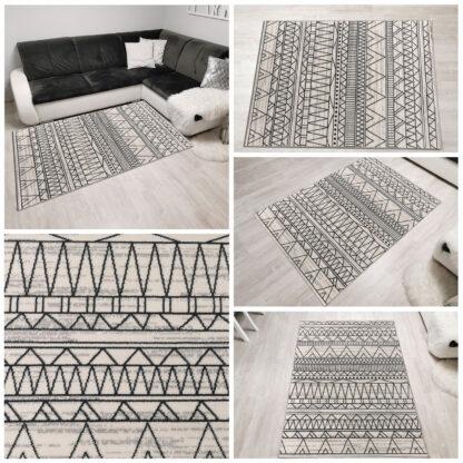 orientalny dywan klasyczny biały