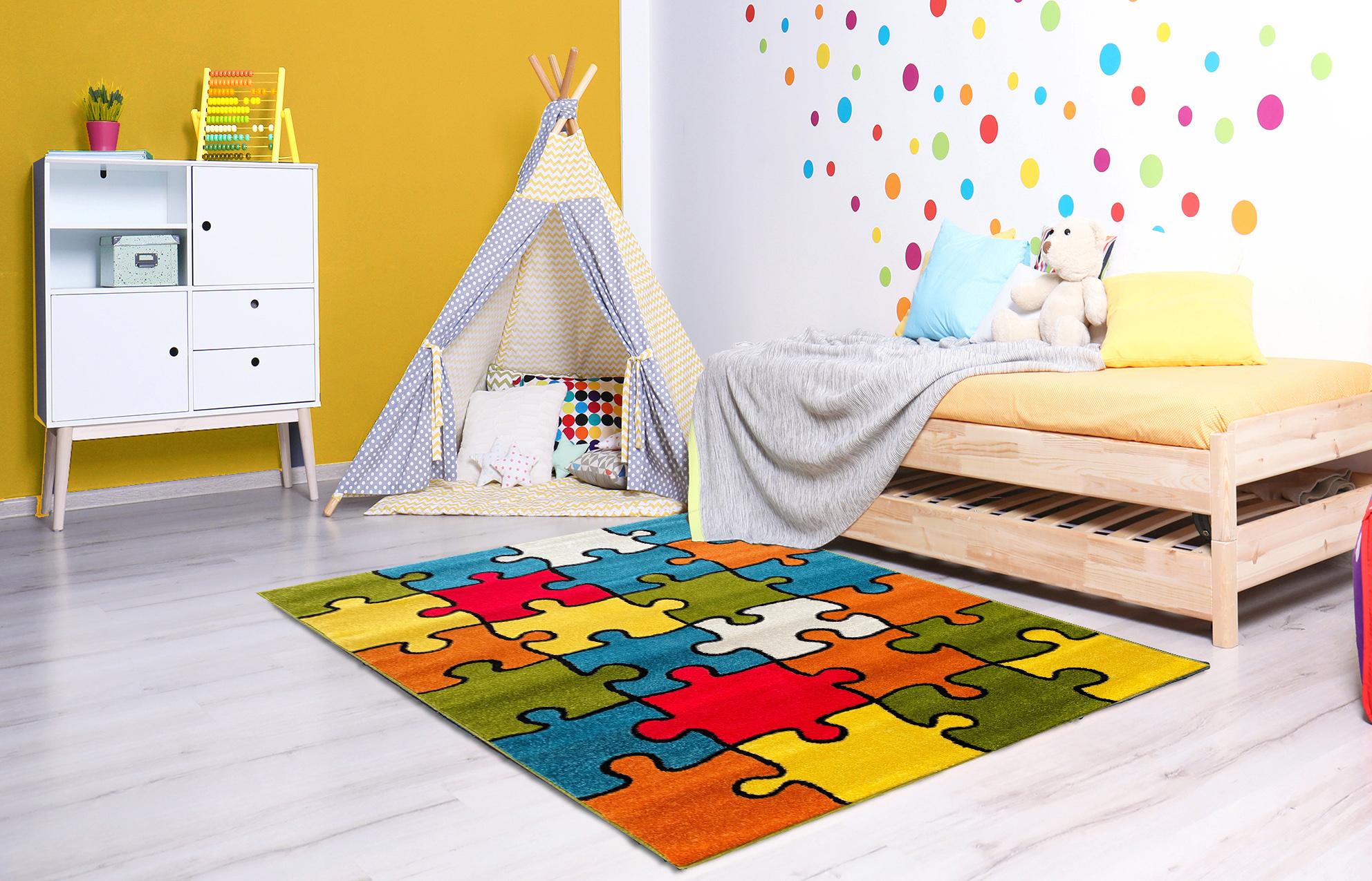 dywan dla dzieci kolorowe puzzle