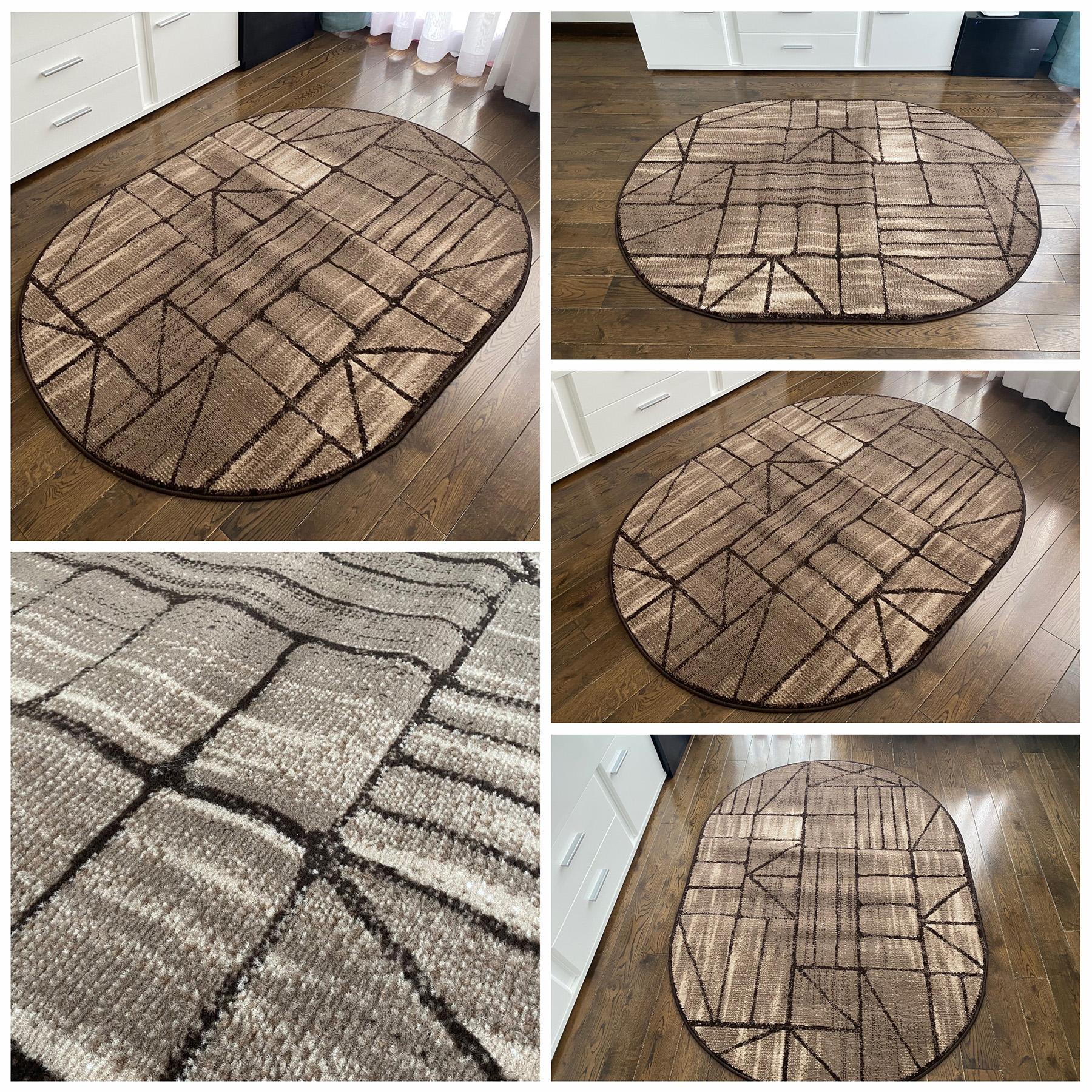 nowoczesny dywan brÄ…zowy