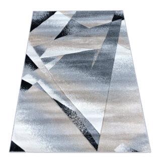 Nowoczesny dywan geometryczny czarny