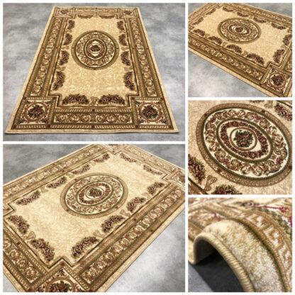 beżowy gruby dywan klasyczny