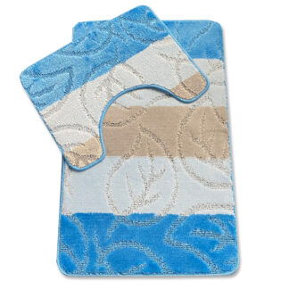 błękitny komplet łazienkowy